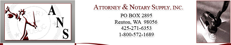 ATTORNEY & NOTARY SUPPLY OF WASHINGTON, INC